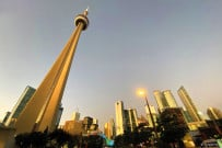 CN-Tower in the evening