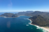 Helicopter tour view of Cape Town