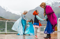 Meeting with Disney princesses Anna & Elsa