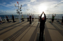 Yoga on deck